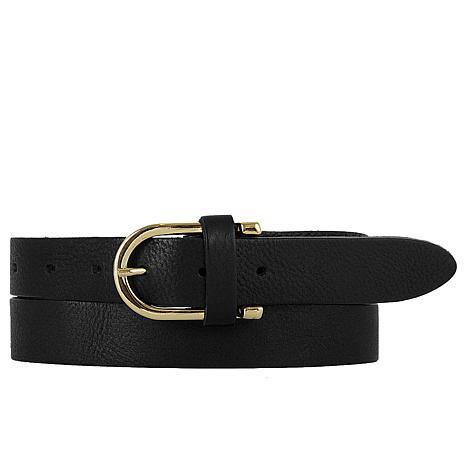 Amsterdam Heritage Geneva Classic Black Leather Belt