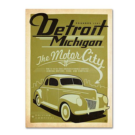 "Anderson Design Group ""Detroit"" Canvas Art"