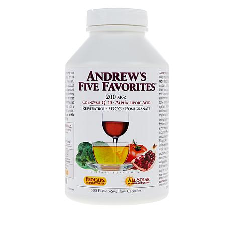 Andrew's 5 Favorites - 500 Capsules