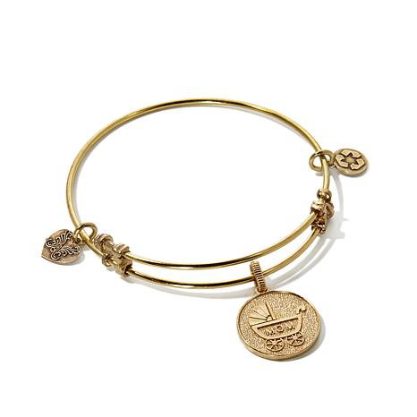 "Angelica New Mom Charm 7"" Slide-Clasp Bracelet"