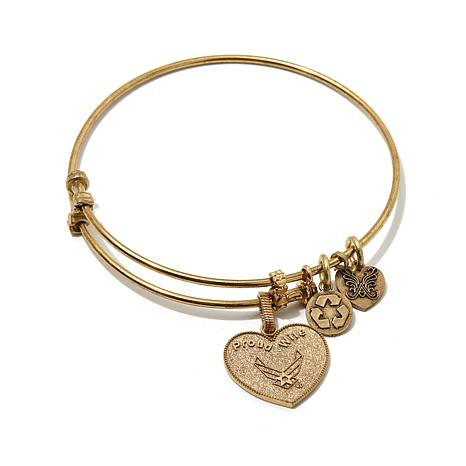 """Angelica Proud Wife Air Force 7"""" Slide-Clasp  Bracelet"""