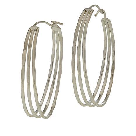 Anju Hammered Multi-Layer Hoop Earrings