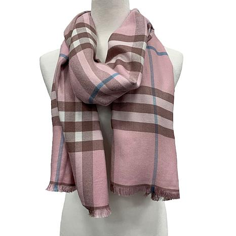 Anna Cai Thick Plaid Pattern Scarf