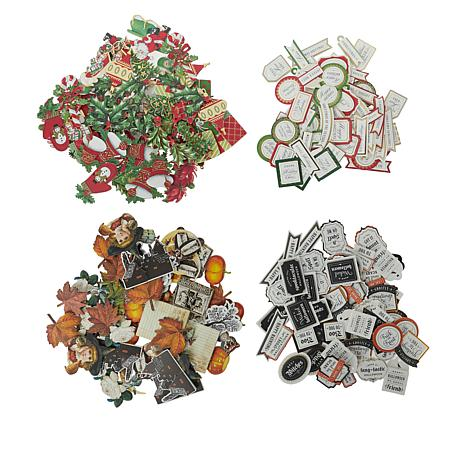 Anna Griffin® Mini Halloween and Christmas Stickers Set of 240