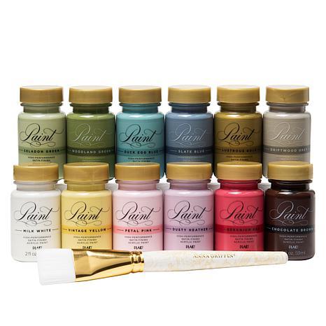 Anna Griffin® Perfect Palette Multi-Surface 13-piece Paint Set