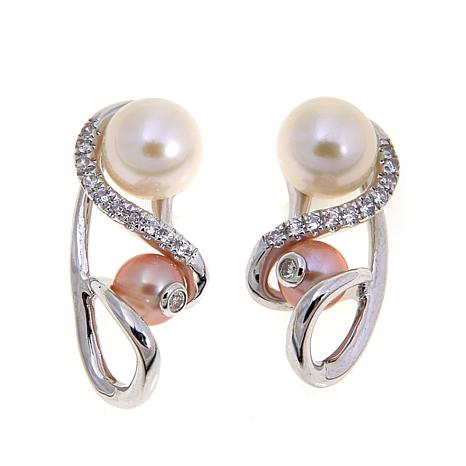 """Anne Geddes """"Nurture"""" White and Pink Earrings"""