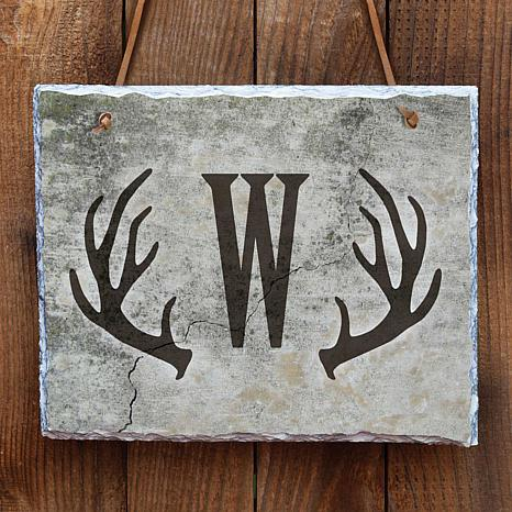 Antlers Personalized Wall Slate