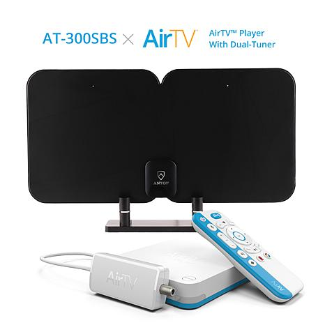 ANTOP AT-300SBS 70-mile TV Antenna with AirTV Streaming Media Player