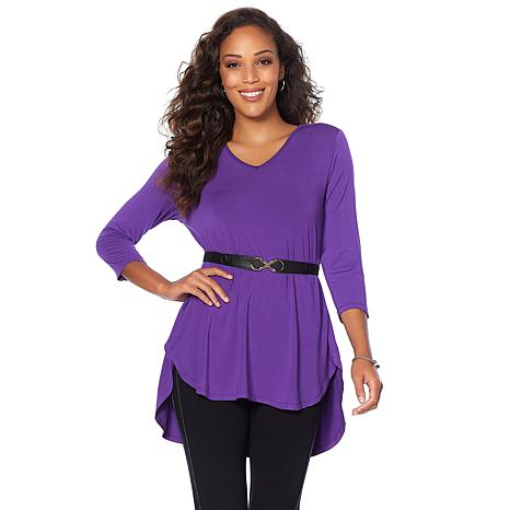"Antthony ""Jazzy Days"" 2-pack 3/4-Sleeve Tops with Elastic Belt"
