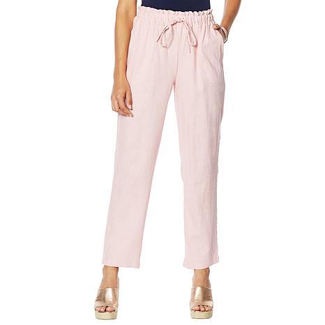 Antthony Linen-Blend Pull-On Tapered Pant