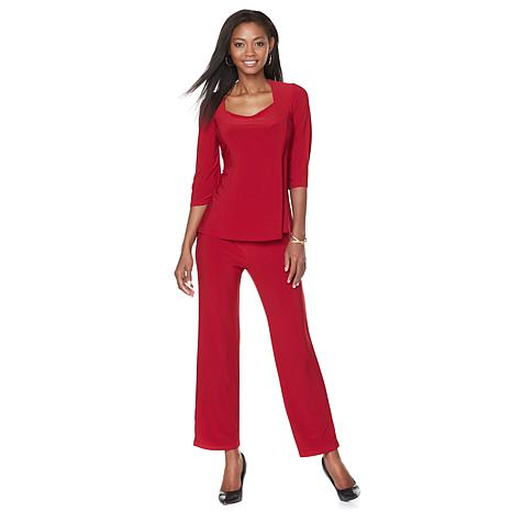 "Antthony ""Pippa"" 2-piece Bell-Sleeve Top and Pant Set"
