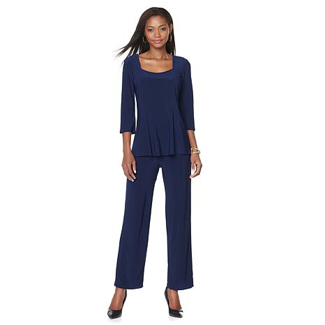"""Antthony """"Pippa"""" 2-piece Bell-Sleeve Top and Pant Set"""