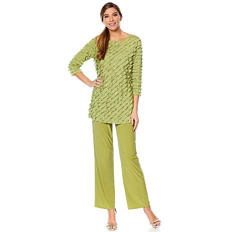 """Antthony """"Reflections"""" 2-piece Ruffle Top and Pant Set"""