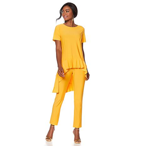 "Antthony ""Sassy Mama"" Ruffle-Hem Top and Pant Set"