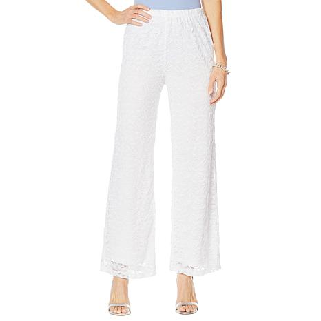 "Antthony ""Silver Jubilee"" Lace Overlay Palazzo Pant"