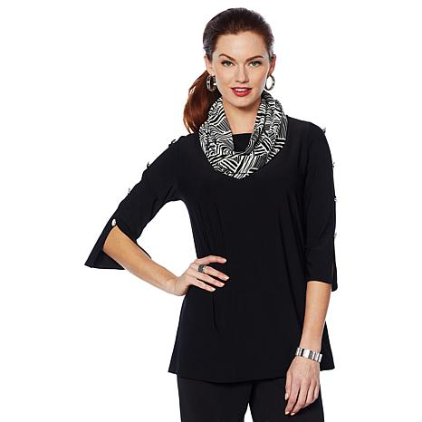 """Antthony """"Smooth Sports"""" 2-piece Top and Scarf Set"""