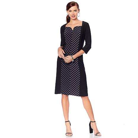 "Antthony ""Striped for Success"" Striped Panel Sheath Tunic"