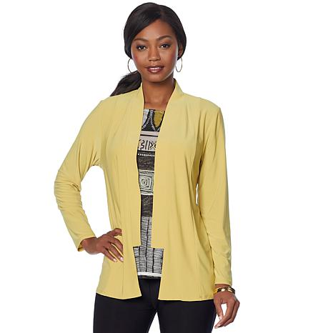 """Antthony """"Thrill Me"""" 2-piece Cardigan and Printed Top Set"""