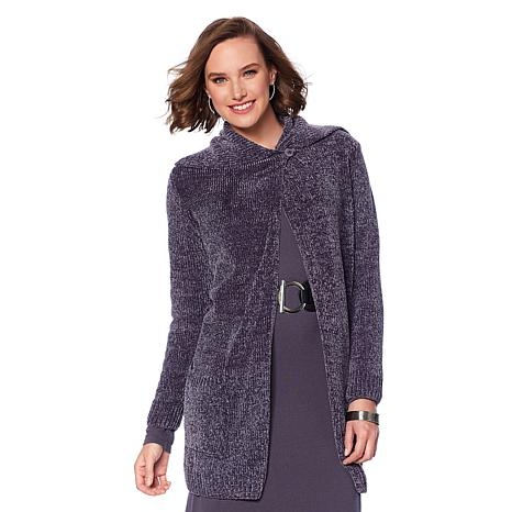 """Antthony """"Timeless Textures"""" Chenille Cardigan"""