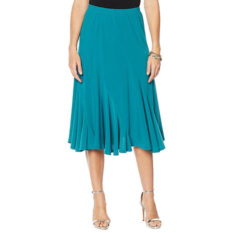 """Antthony """"Twilight Collection"""" Spiral-Seamed Crepe Skirt"""