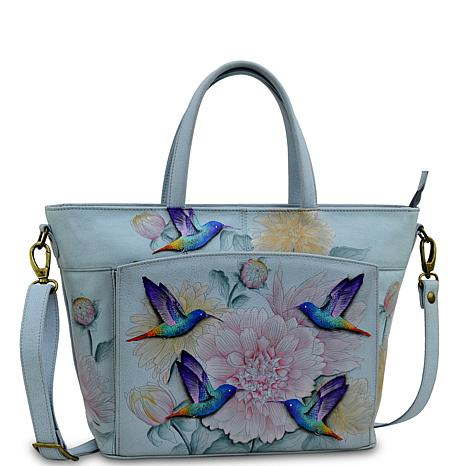 Anuschka Hand-Painted Leather Large Organizer Tote
