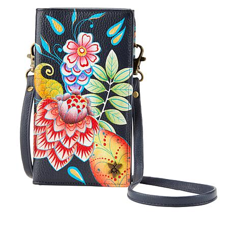 Anuschka Hand-Painted Leather Wallet/Phone Organizer