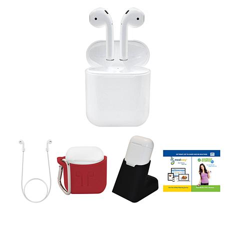 Apple AirPods Truly Wireless Earphones w/Stand, Accessories & App Pack
