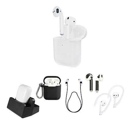 Apple AirPods Wireless Earbuds with Charging Case and Accessories