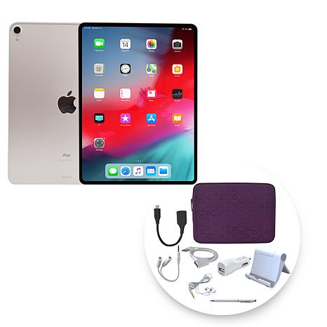 """Apple iPad Pro® 11"""" 1TB Tablet with Zippered Case and Accessories"""