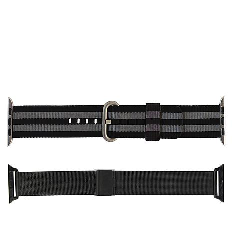 Apple Watch 38/40mm 2-Pack Nylon & Steel Replacement Band