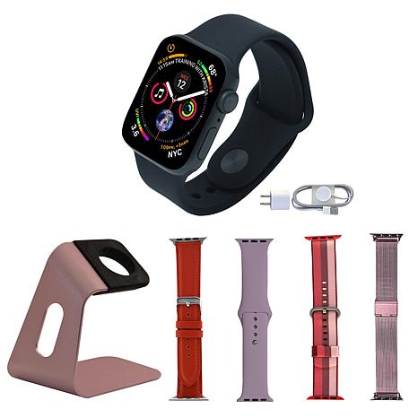 Apple Watch Series 5 GPS 40mm with Aluminum Stand and 4 Extra Bands
