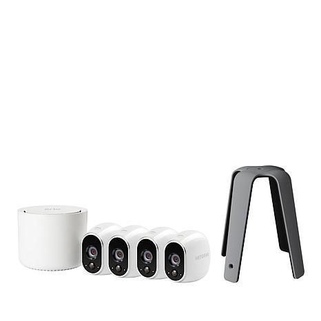 Arlo HD 4-Camera Wireless Indoor/Outdoor Security System & Mount