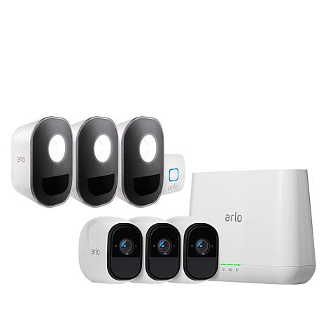 Arlo Pro 3-Camera Security System with Arlo Security Light 3-pack