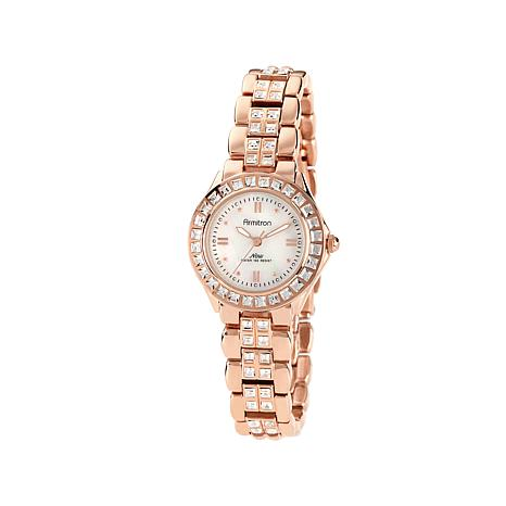 Armitron Women's Rosetone Mother-of-Pearl Dial Watch