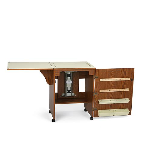 Arrow Compact Airlift Sewing Machine Cabinet - Oak ...