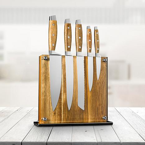 Art And Cook Elite 6 Piece Knife Block Set 8774039 Hsn
