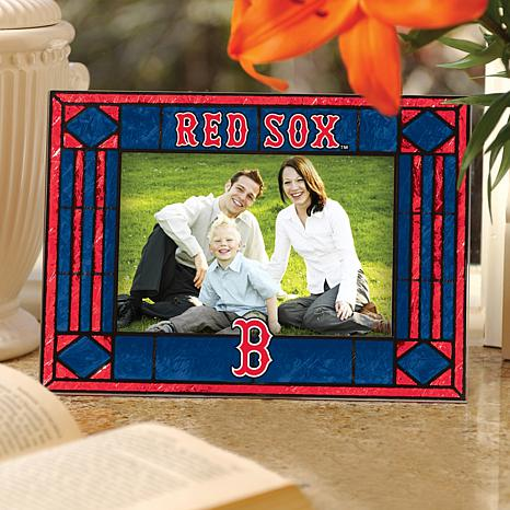 Art Glass Horizontal Picture Frame - Boston Red Sox