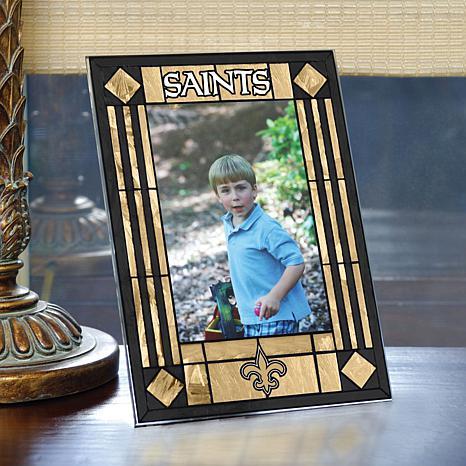 Art Glass Team Photo Frame - New Orlean Saints - NFL