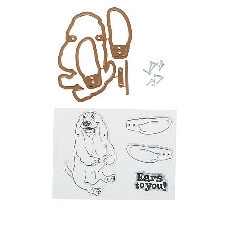 Art Impressions Dog Flutter Stamp and Die Set