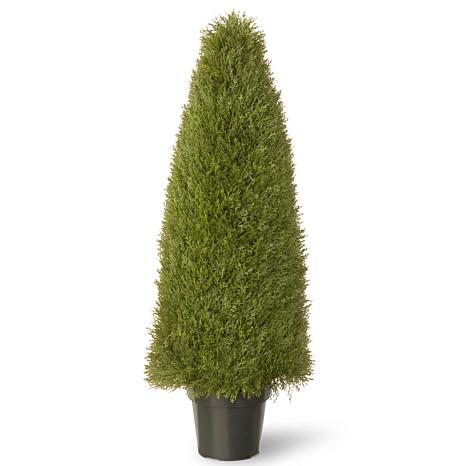 "Artificial Topiary Tree 48"" Unpright Juniper in Pot"