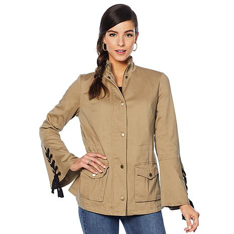 """As Is"" Colleen Lopez Lace-Up Detail Anorak Jacket"