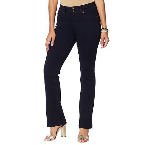 """""""As Is"""" IMAN Global Chic Luxury Resort 360 Slim Bootcut Jean - Basic"""