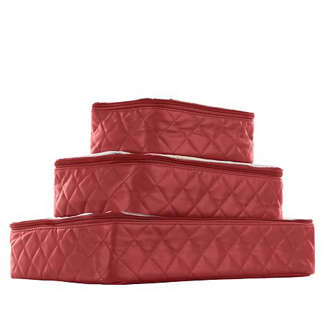 """""""As Is"""" Samantha Brown Quilted Packing Cubes 3-piece Set"""