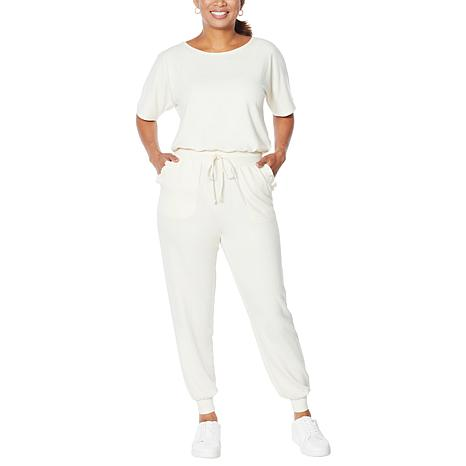 """""""As Is"""" WVVY French Terry Jumpsuit with Ruffle Detail"""