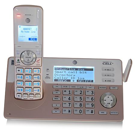 At T 4 Handset Cordless Phone System With Smart Call Blocker 8595449 Hsn
