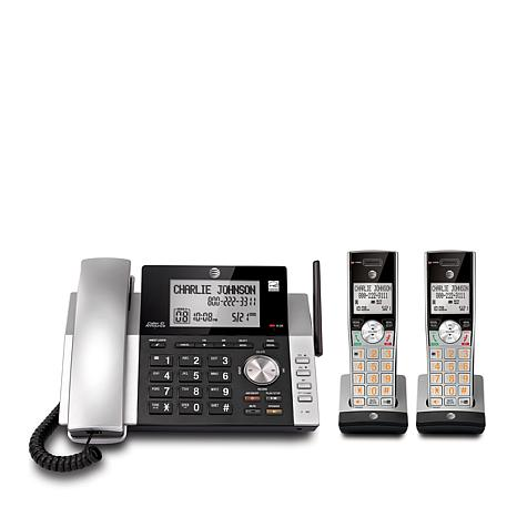ATT DECT 60 Corded Cordless Phone System W 2 Handsets