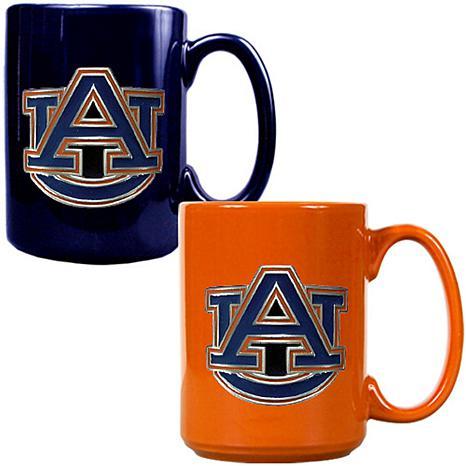 Auburn Tigers 2pc Coffee Mug Set