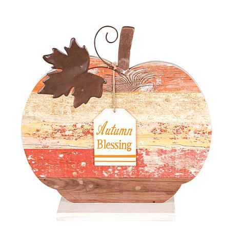 Autumn Blessing Pumpkin Figure