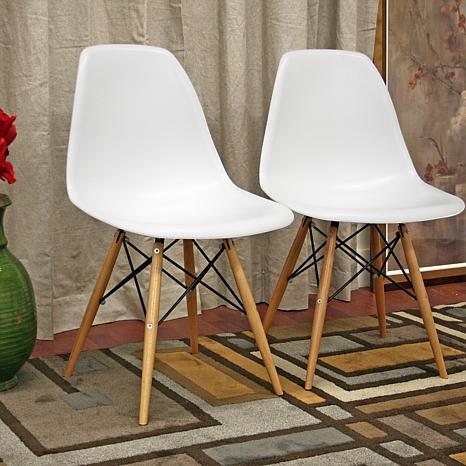 azzo plastic side chairs set of 2 cherner side chair csc05
