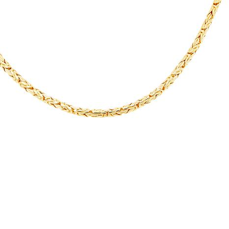 """Bali Designs 18"""" Gold-Plated Sterling Silver Byzantine Chain Necklace"""